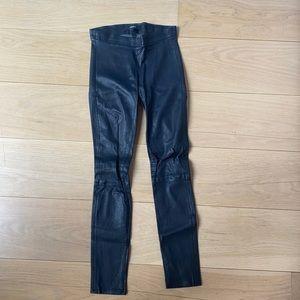 J Brand 100% Real Leather Legging Pant